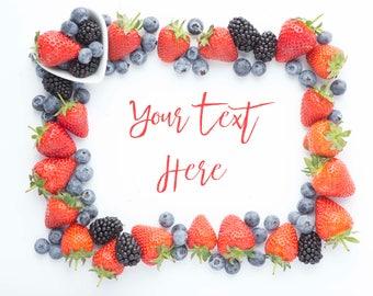 Summer Berries Frame Mockup