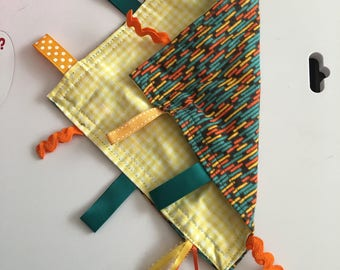 Multicolored brick & yellow checkered lovie