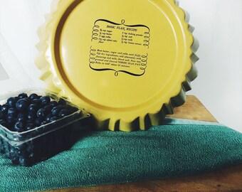 Vintage Mustard Flan Tarte Pan