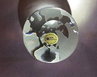 TOM Bohemia crystal Globe Paperweight