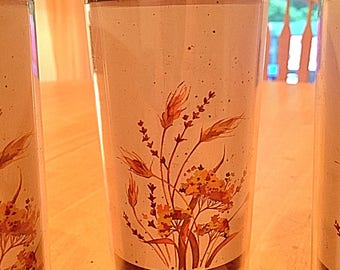1982 Thermo Serv Tumblers - Set of Five (5)