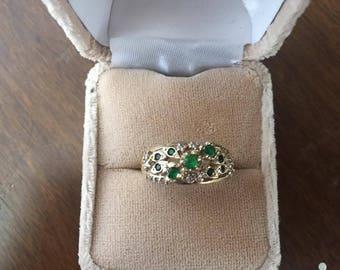 Handmade One-of-a-kind Tsavourite Garnet Ring