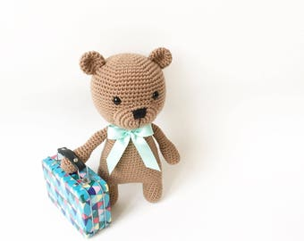 PATTERN - Kenny The Teddy Bear - amigurumi pattern, crochet pattern, PDF
