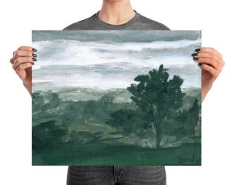 Before the Storm, Print by Zarly Steffensen | From Acrylic Painting on Canvas | Landscape, storm, country