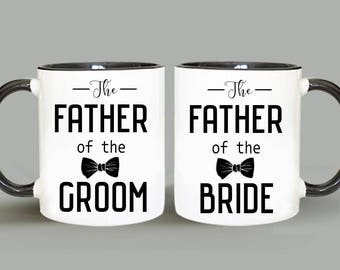 Mug Set, Personalized Mug, Father of the Groom Mug, Father of the Bride Mug, Wedding Mug, Father of the Groom Gift, Father of the Bride Gift