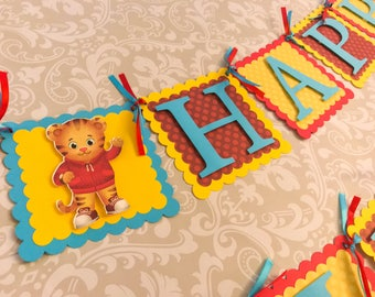 Daniel Tiger Birthday Banner, Daniel Tiger Banner, Daniel Tiger Birthday,  Daniel Tiger Party Supplies