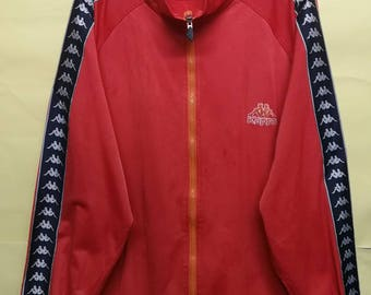 vintage Kappa stripes track top zipper jacket M