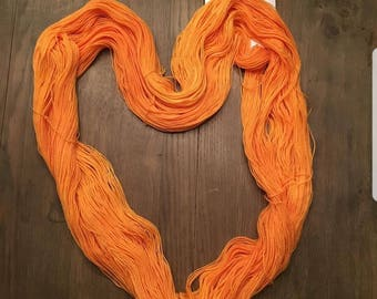 Daffodil, handdyed skein for the Truly Hooked on Socks KAL colorway for March socks 'Frances '. Dyed to order.