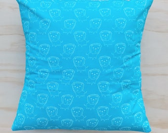 Blue Lion Pillow