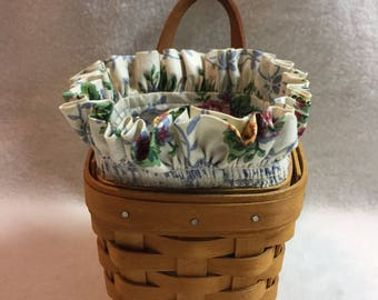 Longaberger 1997 Small Square Basket with Fabric Liner (#034)