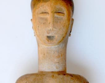 Hand Carved Wooden Ewe Figure from Togo - West African Wood Carving - EW10