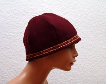 CAP, Middle Ages, Viking, Rus, embroidered, Herringbone, Gr. 57, wool, linen