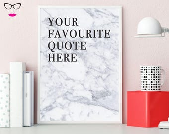 Your Favourite Quote Customisable Text PRINT - wall art, quote print, typography, custom quote design
