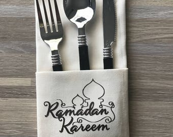 Ramadan Mubarak Dinner Napkins Set of 4