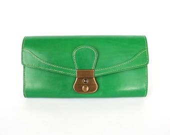 Women's leather wallet-clutch. Large smartphone wallet.  Leather wallets for women. Free worldwide shipping!