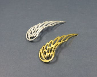 leaf connector charm filigree choose silver or gold (E41)
