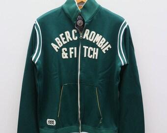 Vintage ABERCROMBIE & FITCH Green Zipper Jacket Size L