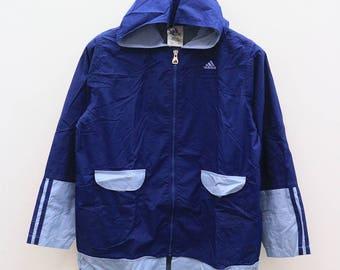 Vintage ADIDAS Sportswear Blue Zipper Hoodies Windbreaker Size L
