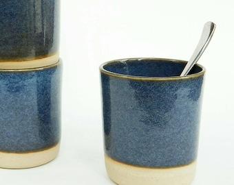 "Set of 2 ""denim"" blue coffee or tea cups"