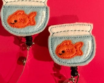 Goldfish Nurse Retractable Badge Reel Holder