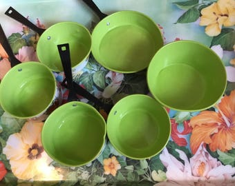 Bright Colored Vintage Children's Cooking Cookware Set