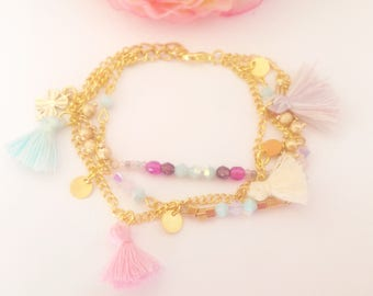 Pastel MULTISTRAND bracelet
