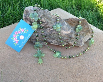 Irish Heart Shamrock Handmade Fashion Rosary