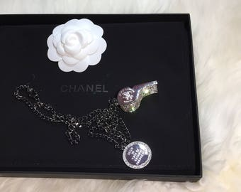New super shiny whistle necklace chanel inspired