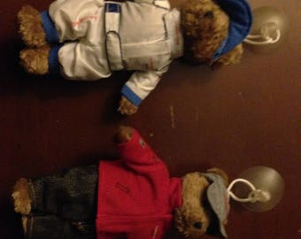 RARE Porsche Stuffed Bears, with suction cup