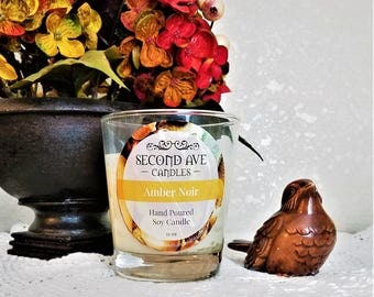 Amber Noir Scented 11oz Glass Container Candle