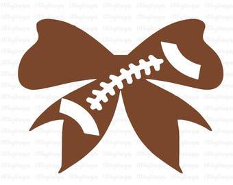 Football bow svg, Football svg, Football fall season svg, football cut file, silhouette cut file, cricut cut file, sports svg files, clipart