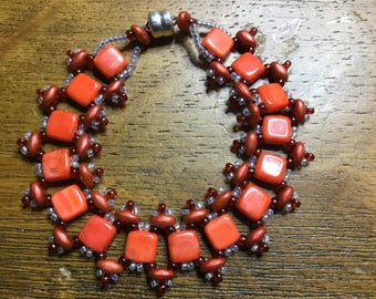 Orange Riverwalk Wrap Bracelet