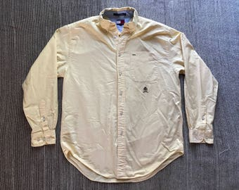 Vintage 90s Tommy Hilfiger Crest Button Down