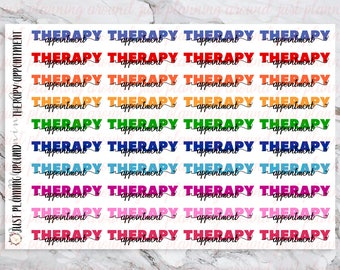 Therapy Appointment Stickers, Therapy Stickers, Appointment Stickers, for use with  Erin Condren, Happy Planner