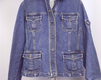 Denim Jacket Vintage 90s Jean Jacket Women's