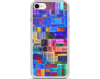 iPhone 5 6 7 8 Case Watercolor Colorful Gems Jewels Bold Colors Women's Gift Idea Protective iPhone Case Paint