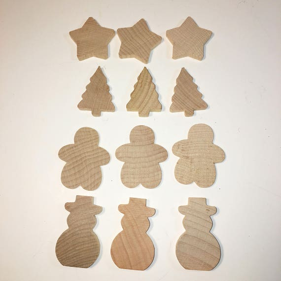 Wood Pieces Christmas Cutouts Unfinished Wood Christmas