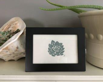 Succulent Block Print