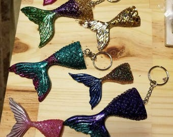 Mermaid tail key chain