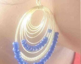 Thread Earring Brass Thread Earring Brass Earring Brass Wire Thread Earring
