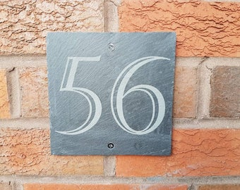 House plaque,personalised, house sign, slate, house number, outdoor and garden.