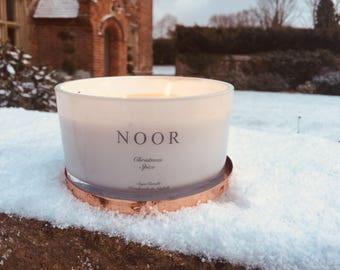 Luxury Large 3 wick soy wax candle Copper lid home decor 50cl Black raspberry & Peppercorn handmade in norfolk vegan friendly candles