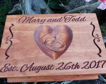 Personalized Wedding keepsake box, gift box, Bride, Groom, groomsman, Brides maid, Bridal Shower