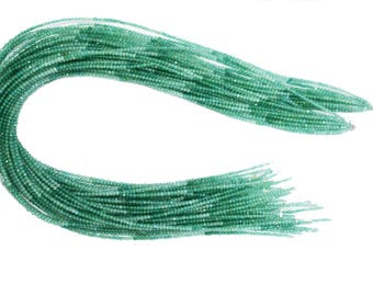 5 Strands / AAA Quality Green Onyx Shaded Faceted Beads (Machine Cut ) / 2.0-2.5 mm / 13.5 Inch