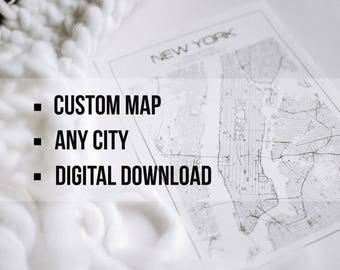 City maps  Etsy