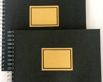 Sketchbook-Standard-28 x 28 cm, 50 sheets, retro style