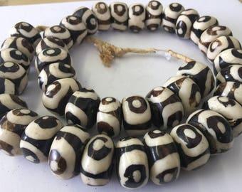 Natural Bone African Trade Beads I African Trade Beads I Trade Beads I Venatian Antique Beads I original Bone Beads I Ghana-Kenyan Beads