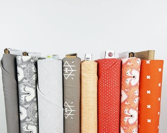 Fox Family Fat Quarter Bundle //  Basics // Quilters Cotton