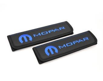 Mopar - 2 pcs. Car Seat Belt Shoulder. Car Seat Strap Covers, Padded Strap Covers, Reversible Strap Covers.