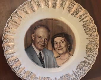 Dwight Eisenhower Souvenir Plate